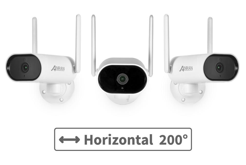 ANRAN 3MP WiFi Surveillance Pan & Tilt Camera System Wireless Security Camera 8CH NVR cctv Video Kit Night Vision Outdoor Camera