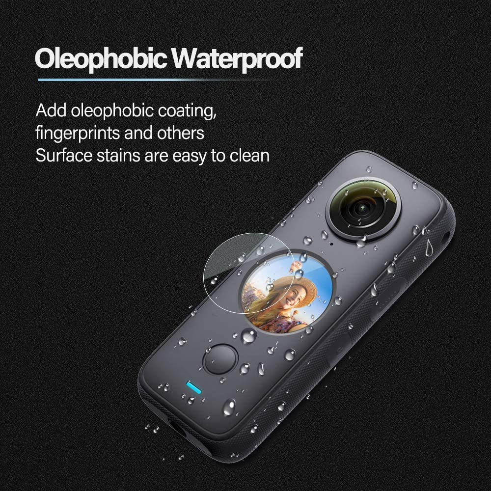 Screen Protection Glass for Insta360 ONE X2 Protector Ultra-Clear Tempered-Glass for Insta 360 ONE X2 Panoramic Action Camera