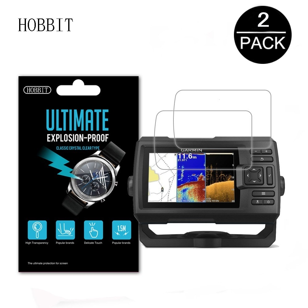 3Pack For Garmin Striker 5CV GPS LCD Shiled Film Accessories Nano Explosion-proof Screen Protector for Garmin Fish Finder