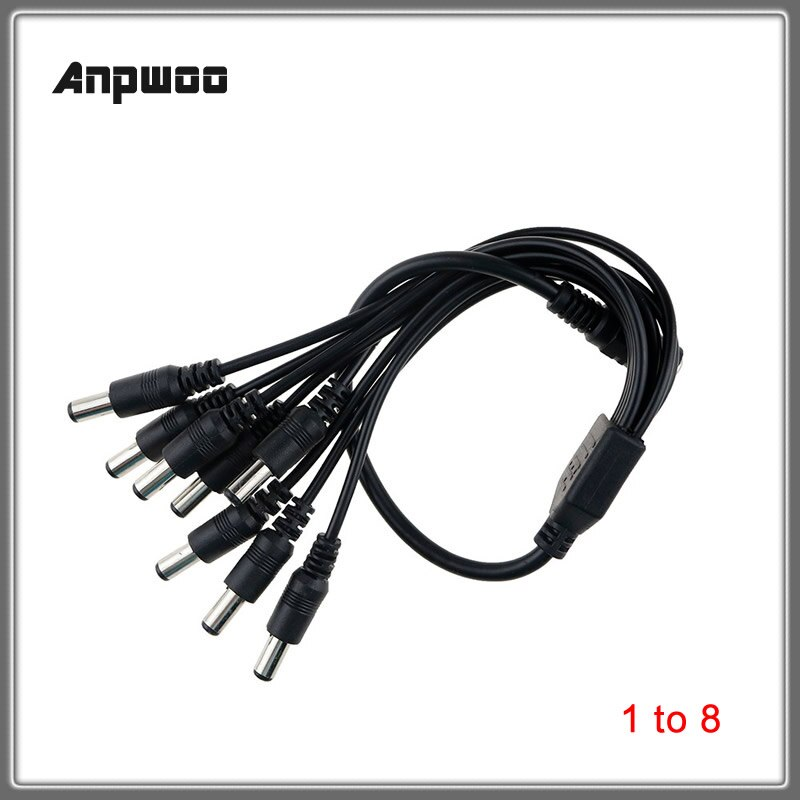 1pcs DC Power Jack DC Power Cable 1 Female to 2,3,4,5,6,8 Male Plug Splitter Adapter for Security CCTV Camera LED Strip