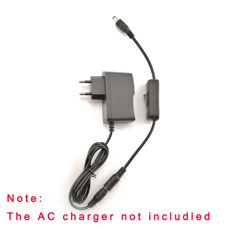 1pc DC Cable Female To Male Plug Power Cord With Switch Adapter Connector Jack For RGB Controller LED Strip CCTV Security Camera