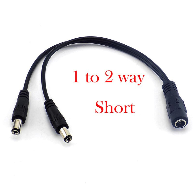 12v DC 1 Female To 2 3 4 5 6 8 Way Male Power Plug Splitter Cable CCTV Led Strip