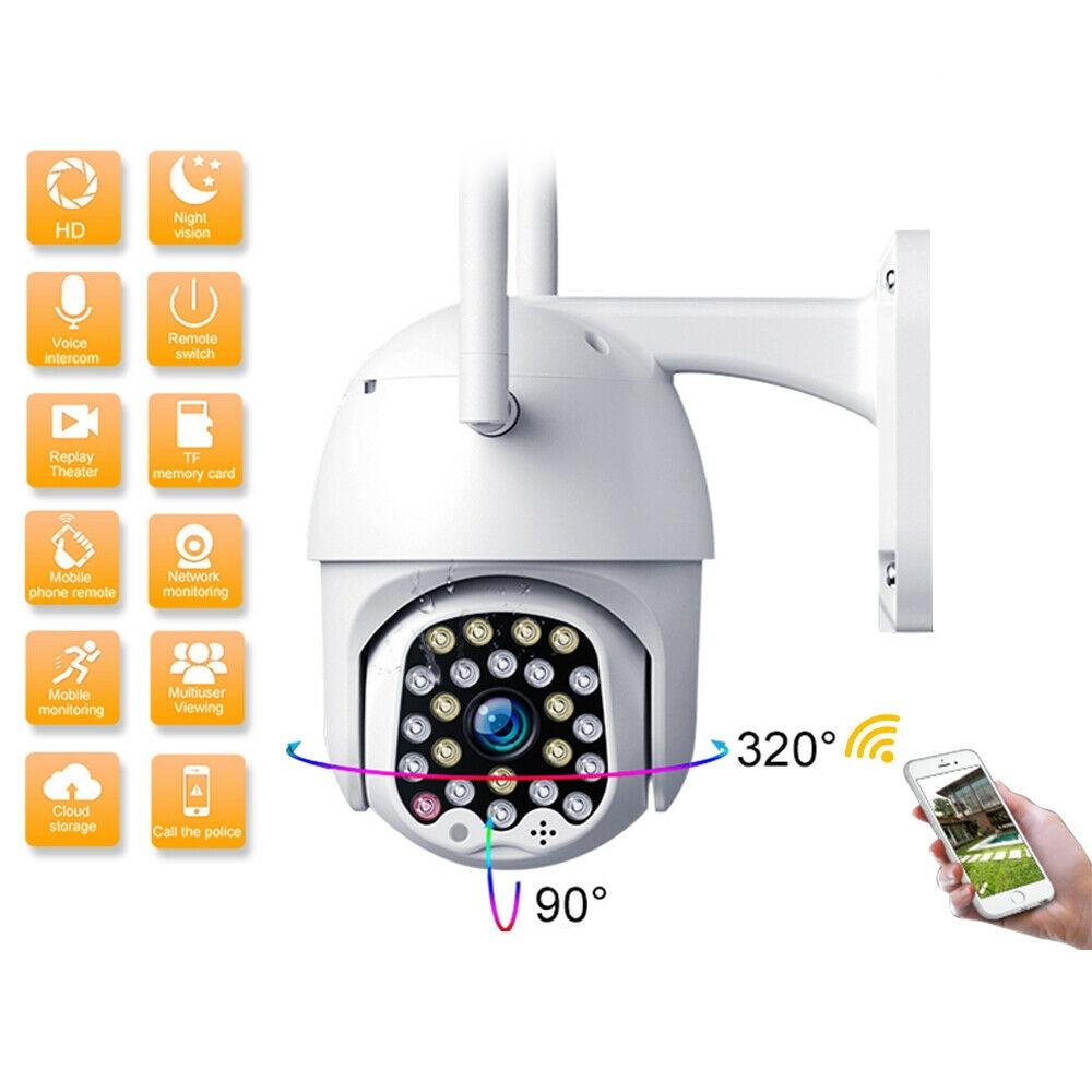 1080P PTZ 5MP Camera Outdoor Speed Dome Wireless Wifi Security Camera Pan Tilt 4X Zoom IR Network CCTV Surveillance