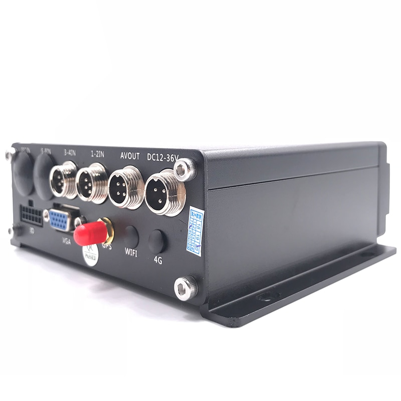 Local playback of ahd 1080p h.265 video GPS 4CH dual SD card mobile DVR vehicle driving monitoring host
